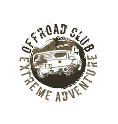 off-road club logo vector image