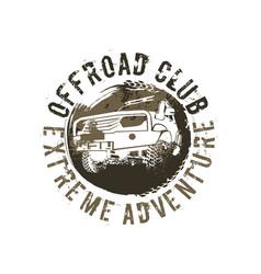 Off-road club logo vector