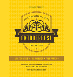 Oktoberfest beer festival celebration retro vector