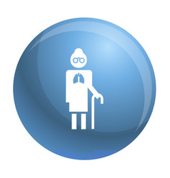 Old man pneumonia lung icon simple style vector