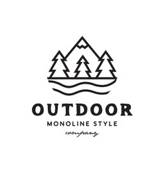 outdoor mountain logo vector image
