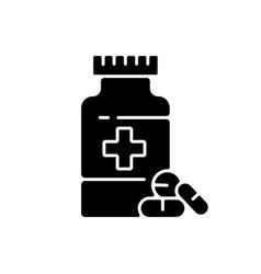 Pharmacy black glyph icon vector