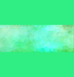 Polygon background green and light blue wide vector