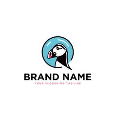 Puffin logo template vector
