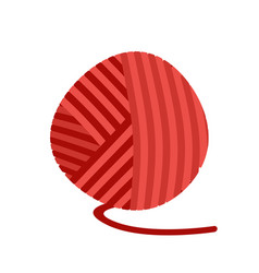 Red ball yarn threads bundle wool vector