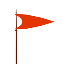 Red medieval flag royal heraldic symbol monarchy vector