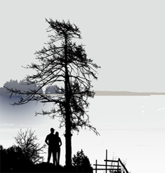 Romantic View vector image
