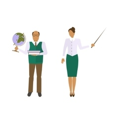 School male and female teacher vector image
