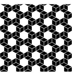 Seamless Geometric Box Pattern vector image