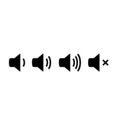 sound icon speaker volume audio volume vector image
