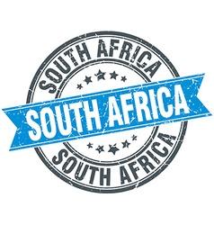 South Africa blue round grunge vintage ribbon vector image vector image