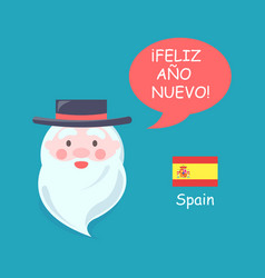 spain santa claus phrase translation vector image