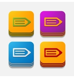 square button watch vector image