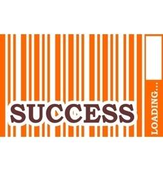 success word build in bar code vector image