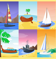 Summer time vacation nature tropical beach with vector