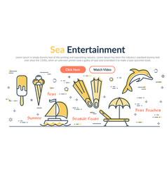 summer web site header vector image