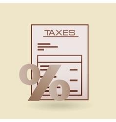 Taxes due design vector