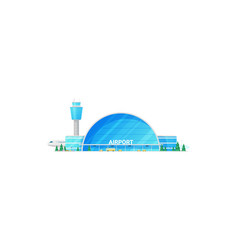 Terminal traffic control tower airport building vector
