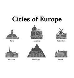 The city of europe vector