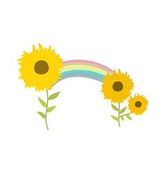 The flowers vector