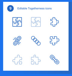 togetherness icons vector image