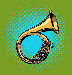 Tuba french horn helicon musical instrument vector