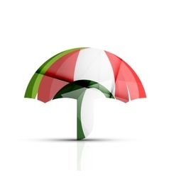 Umbrella protection logo vector image