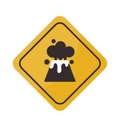 Volcano warning sign vector