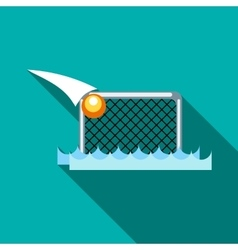 Water polo gates icon flat style vector