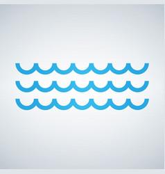 waves outline icon modern minimal flat design vector image