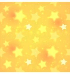 Yellow blurred shining stars seamless pattern vector
