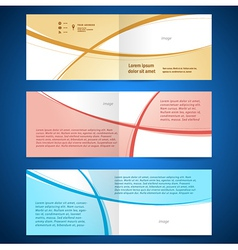 brochure design template booklet album curve line vector image