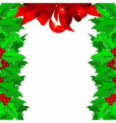 Christmas garnish frame vector image