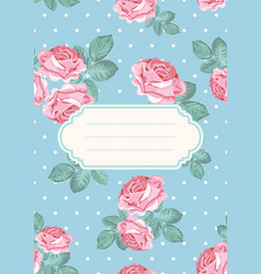 cover or card template shabby chic rose seamless vector image
