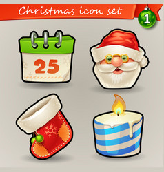 funny christmas icons-1 vector image