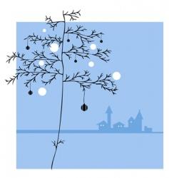 ornament tree vector image vector image
