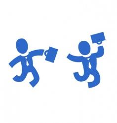 pictogram businessman vector image
