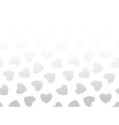 Seamless background of black hearts on white vector image vector image