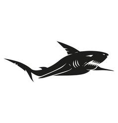 vintage black shark vector image vector image
