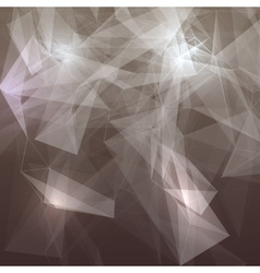Abstract low poly grey bright technology vector image vector image
