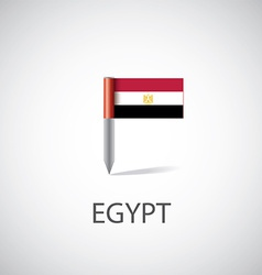egypt flag pin vector image