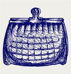 Empty purse vector image vector image