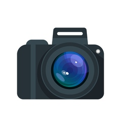 flat style of camera vector image