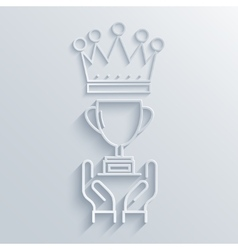 modern congratulation light background vector image