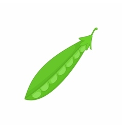 Peas green icon in cartoon style vector image vector image