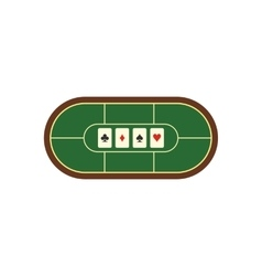 Poker table flat icon vector image