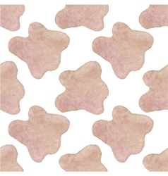 Seamless watercolor pattern with cow hide on the vector image