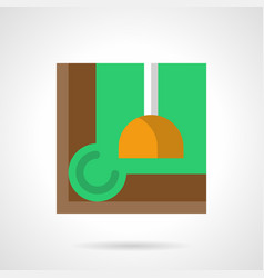 billiard room accessory flat color icon vector image vector image