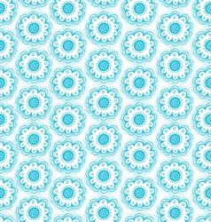 Dala flowers pattern vector image