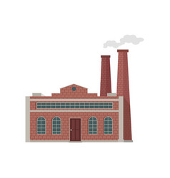 factory building in flat vector image vector image